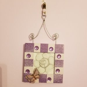 Other - Purple Butterfly Picture Frame
